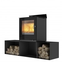 A streamlined wood-burning stove that gives a wonderful finish to your home