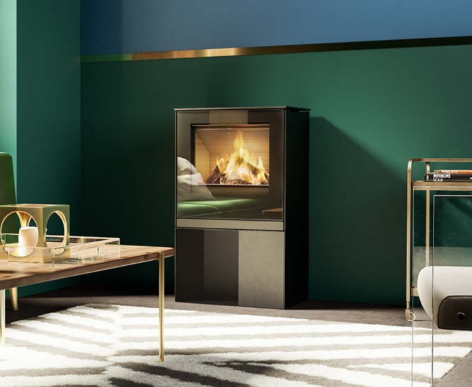 Qtee-II Gas with glass door and high base